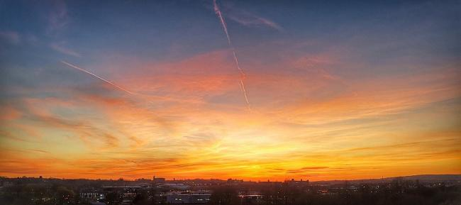 Sunset over Bolton by Mark Hainey?.
