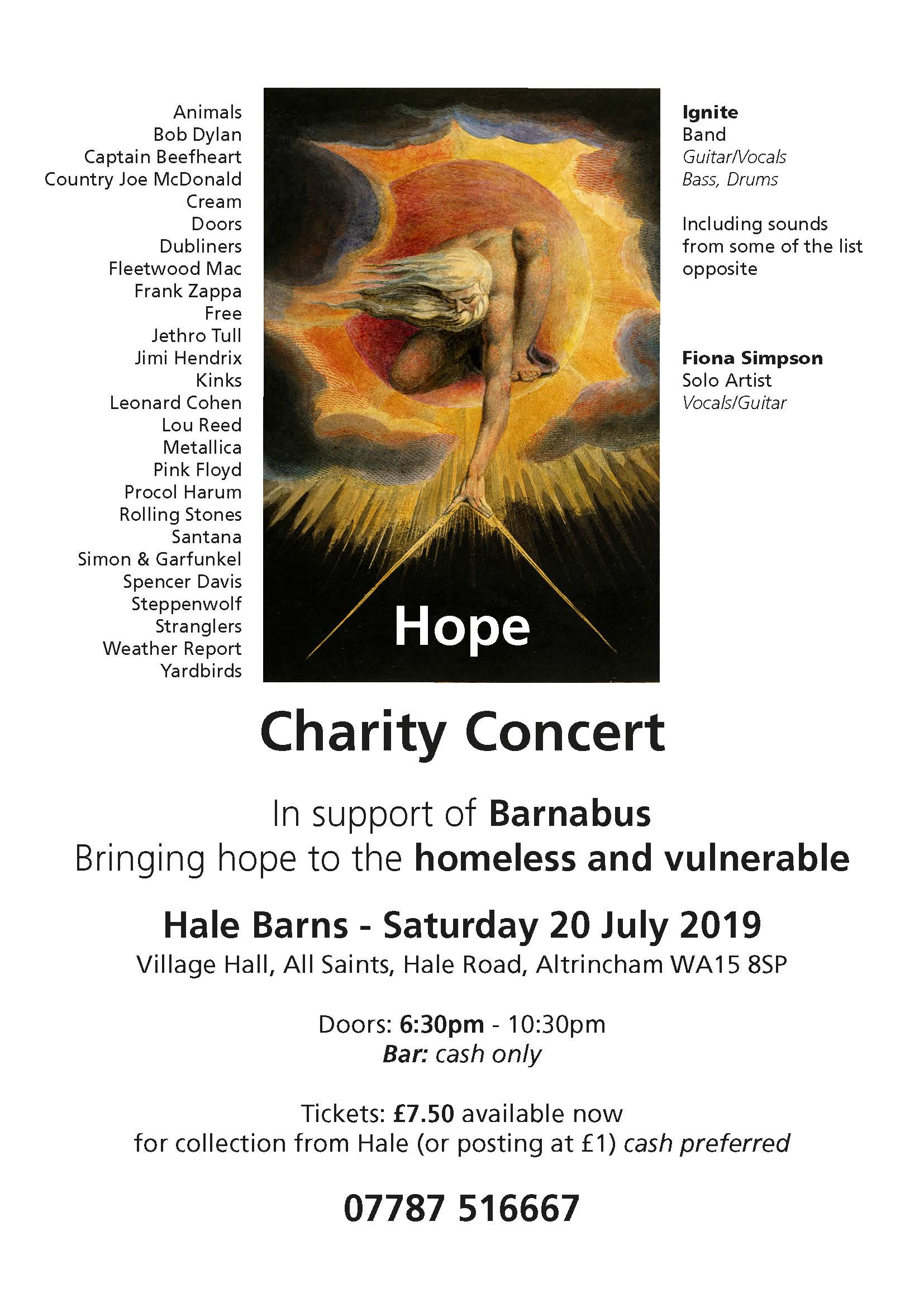 Charity Concert in support of the Homeless