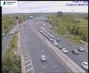 Delays after multi-vehicle crash on M60 between Junctions 10 and 11