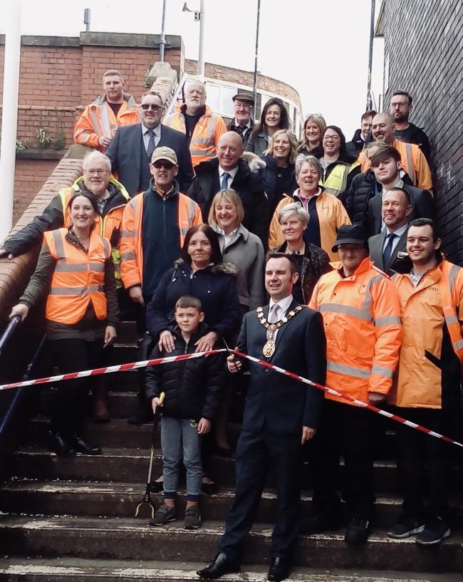 GROUP: Friends of Urmston Station at the ribbon cutting