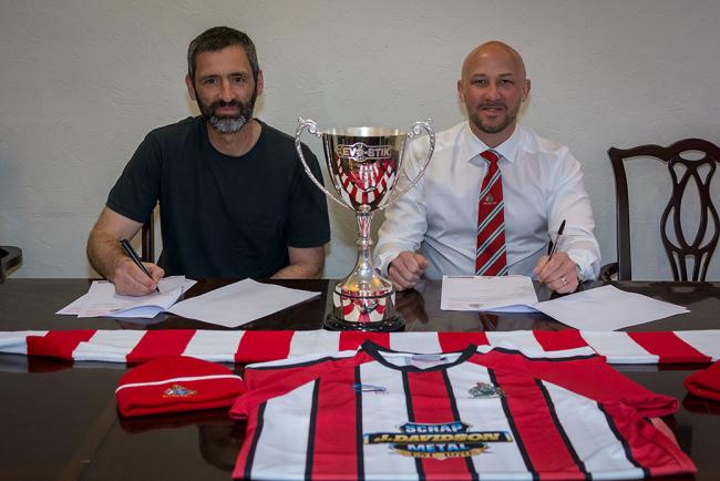 Alty management team Neil Sorvel, left, and Phil Parkinson have penned new deals. Picture by Michael Ripley Photography