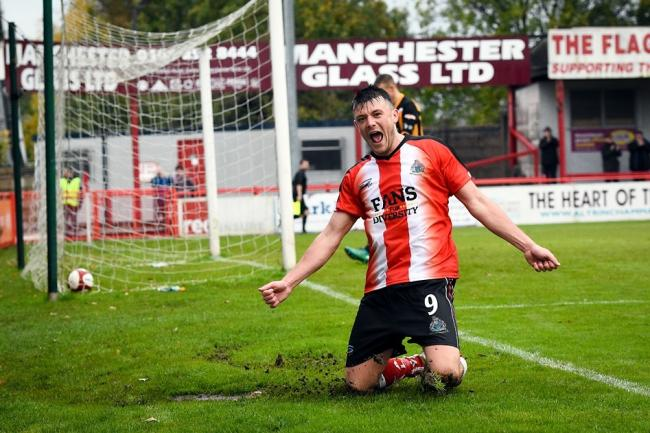 Jordan Hulme is staying on at Altrincham. Picture by Michael Ripley Photography