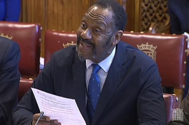 Sir Lenny Henry gives evidence to the House of Lords communications committee