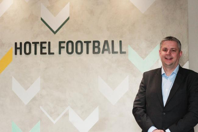 Chris Hull, new general manager for Hotel Football